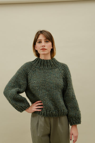 Strathcona Mockneck Sweater—Evergreen