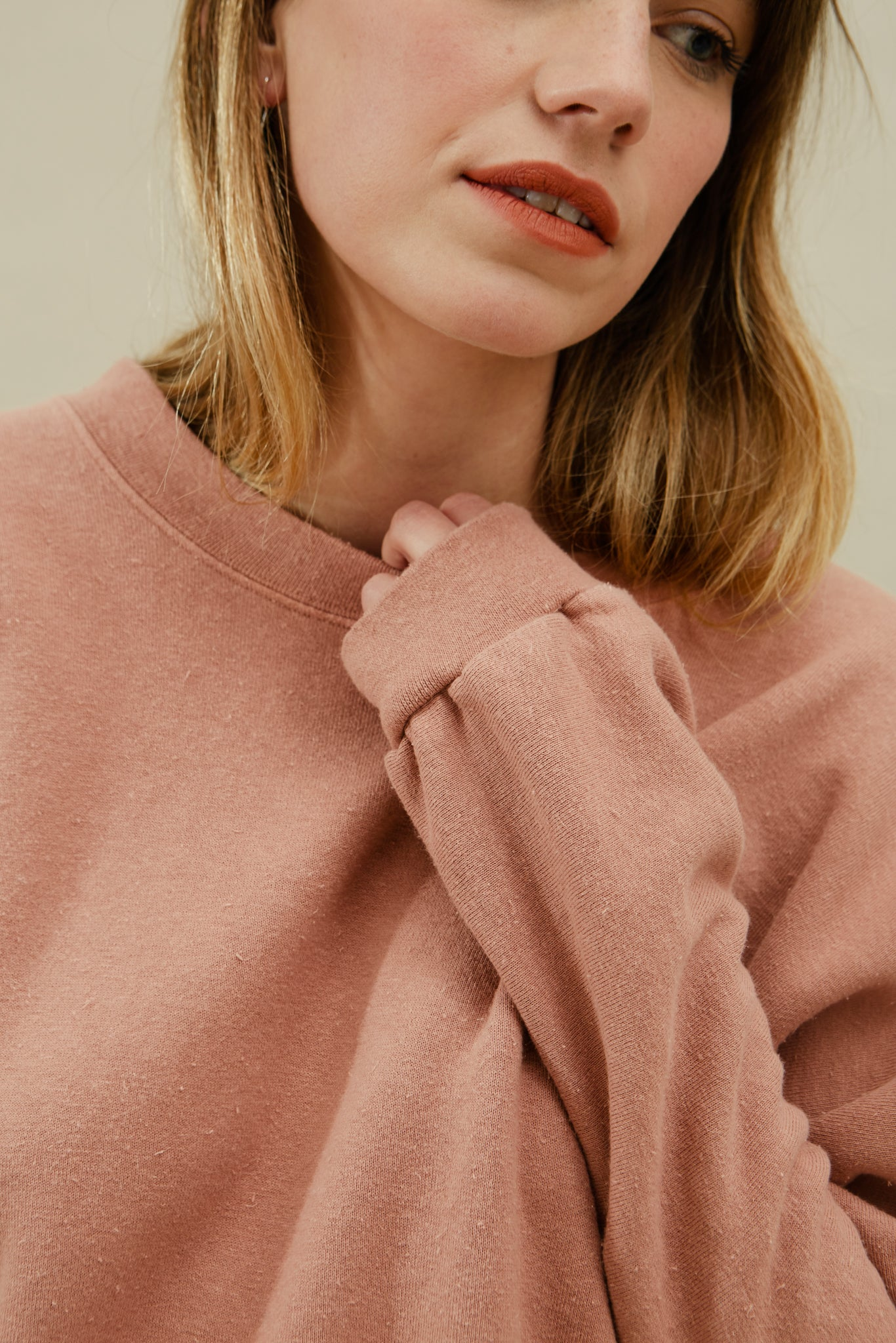 Tig Sweatshirt—Dusty Rose