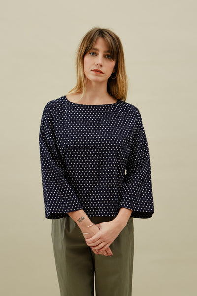 Indigo Dot Jane Top