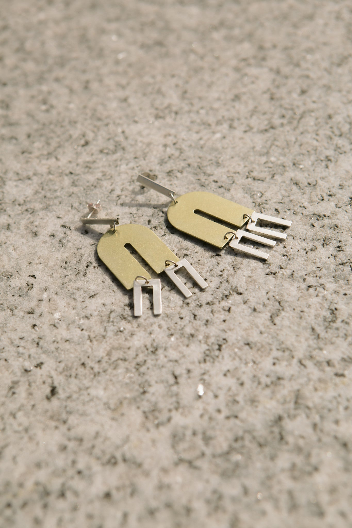 Arc + Line Earrings
