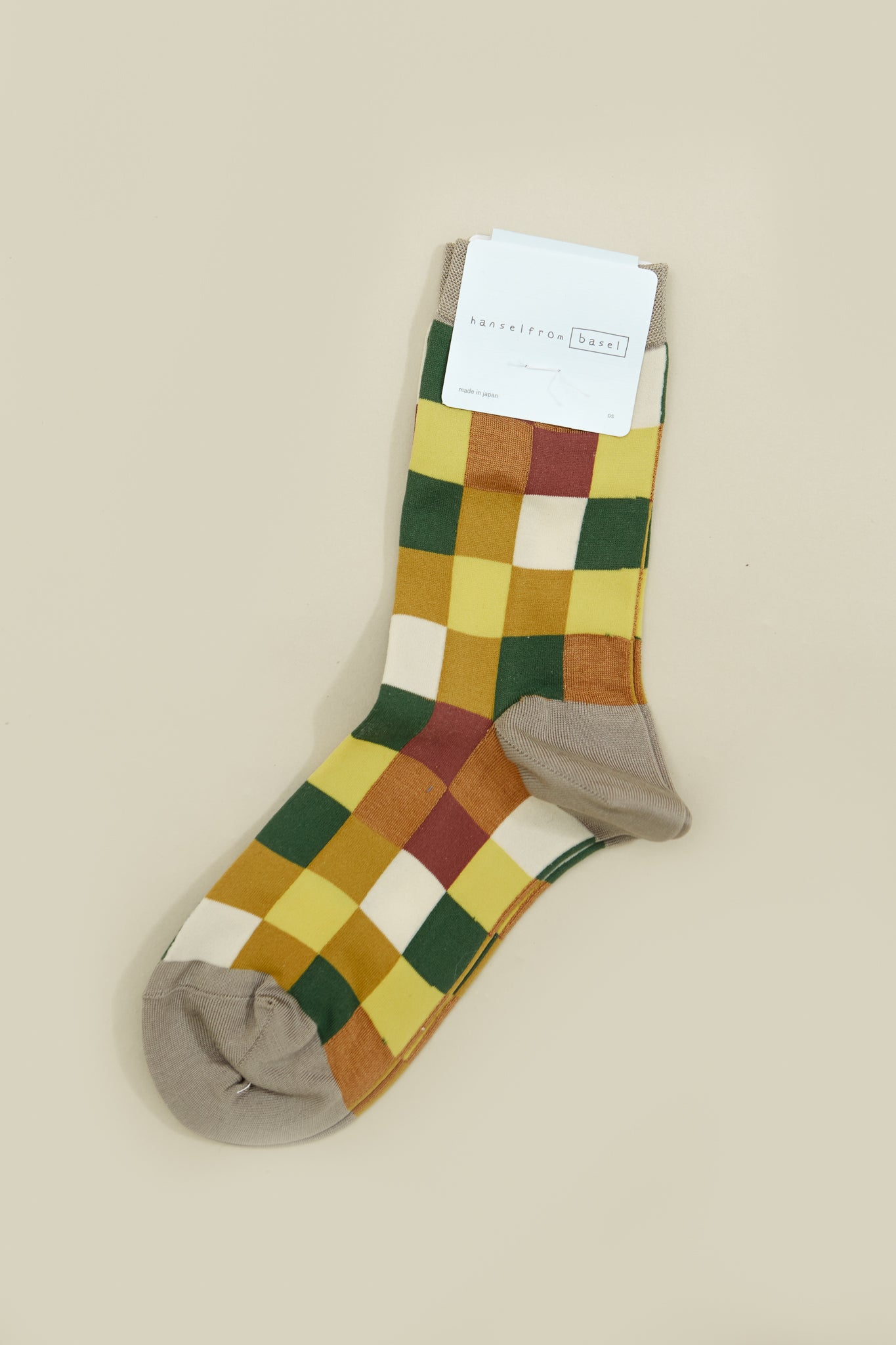 Grey Multi Blocks Crew Sock
