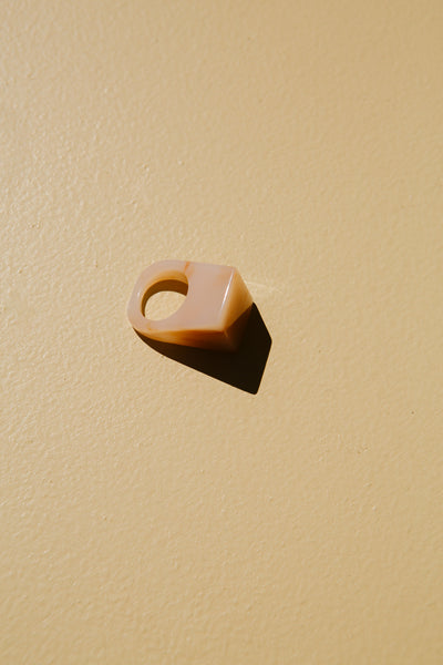 Icon Statement Ring—Marbled Peach