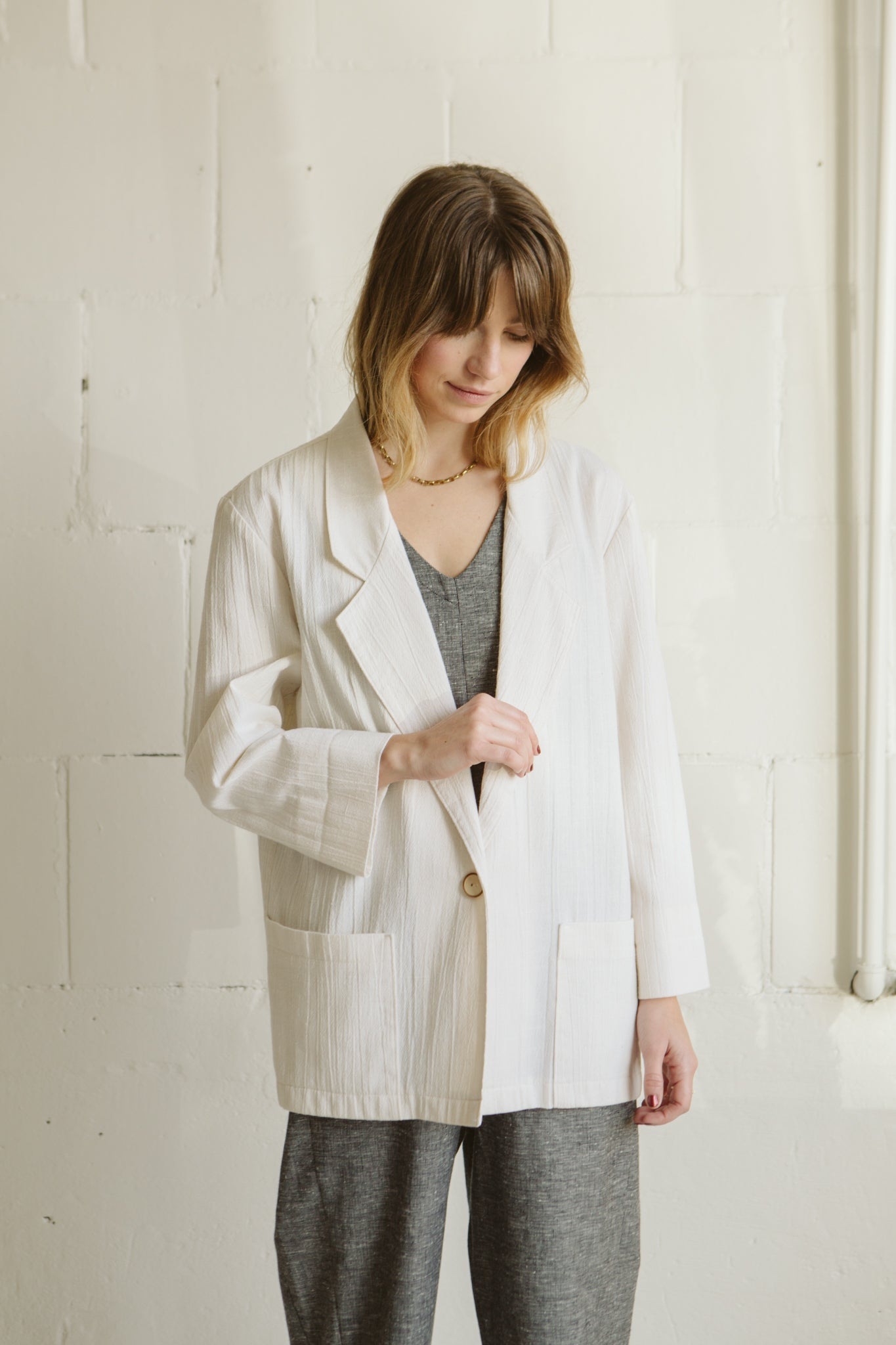 Vintage | Oversized Cream Blazer