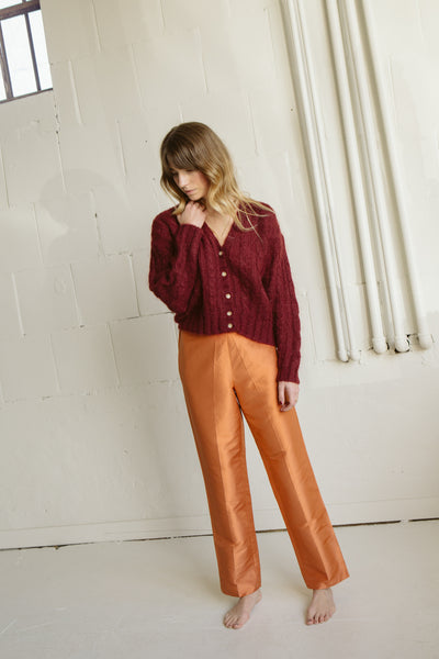 Vintage | Orange Silk Pants