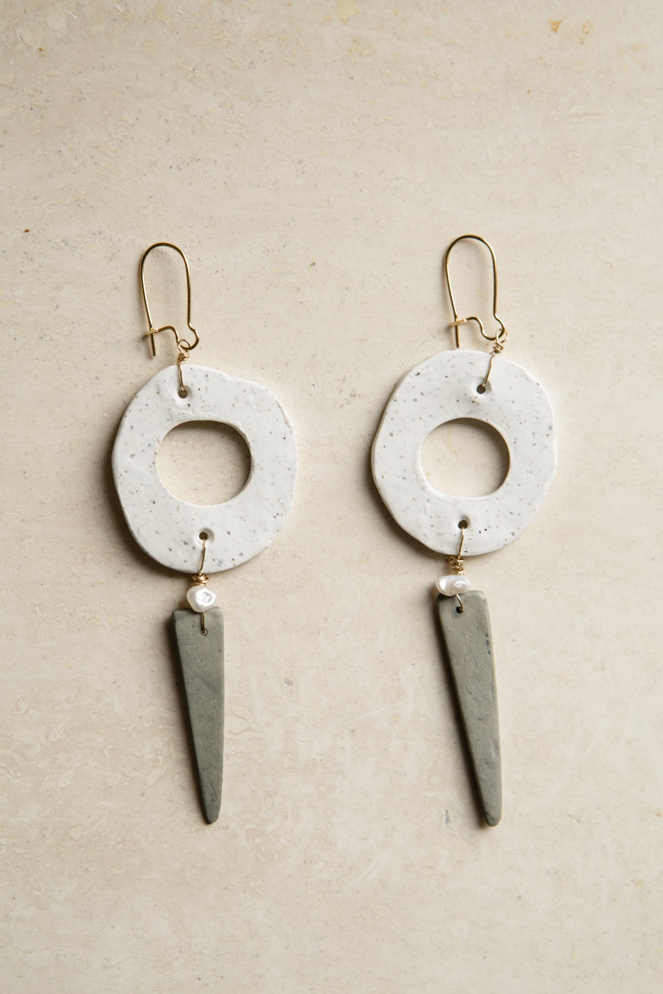 Empire Wood Clay Earrings