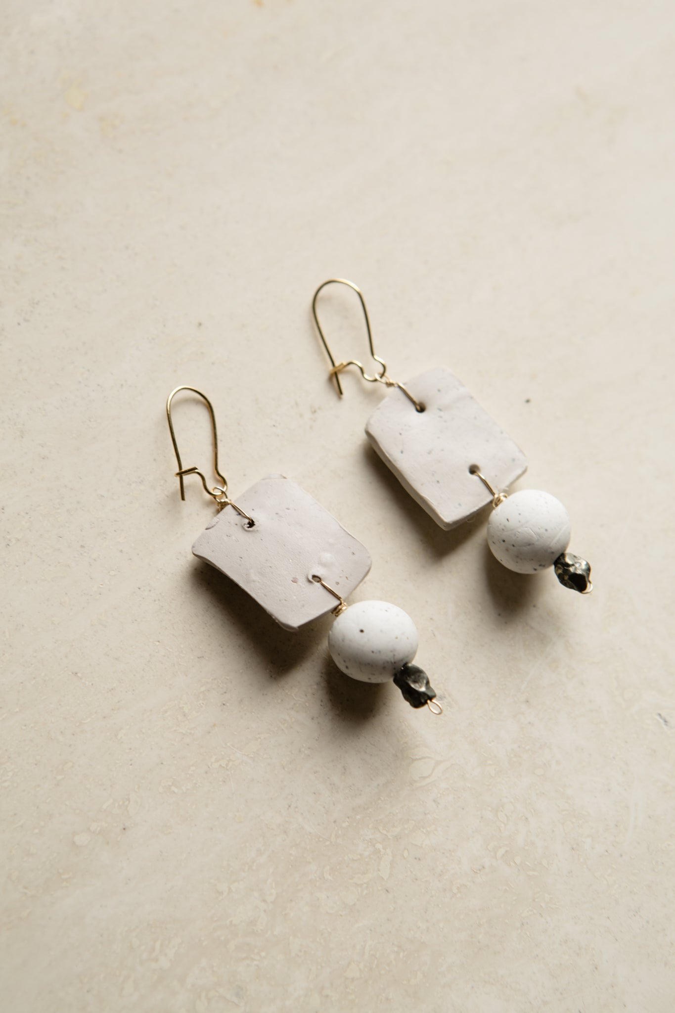 Empire Pyrite Clay Earrings