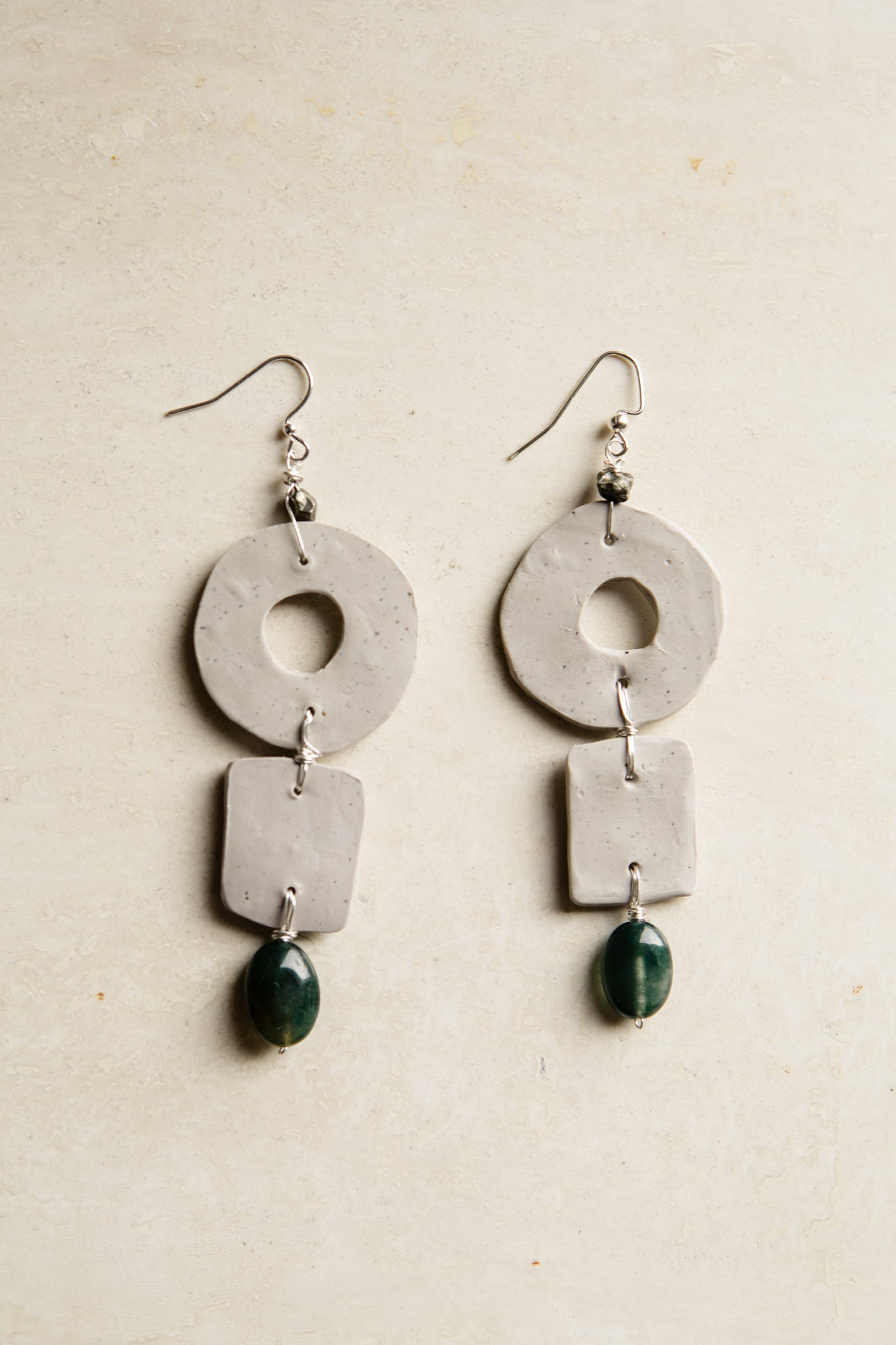 Empire Agate Clay Earrings
