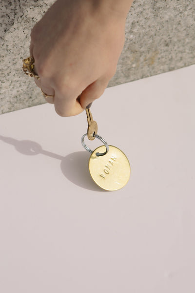 Woman Brass Key Tag