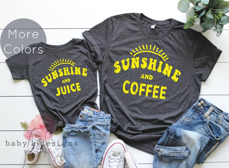 Sunshine and Coffee, Sunshine and Juice - Set of 2