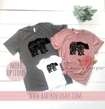 Load image into Gallery viewer, Floral Bear Family Shirts
