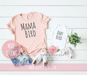 Mama and Baby Bird - Set of 2