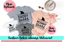 Load image into Gallery viewer, Shark Family Shirts 2.0