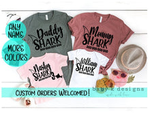 Load image into Gallery viewer, Baby Shark Matching Family Shirts - Mommy Shark, Daddy Shark... any name