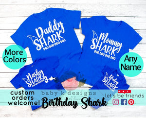 Baby Shark Matching Family Shirts - Mommy Shark, Daddy Shark... any name