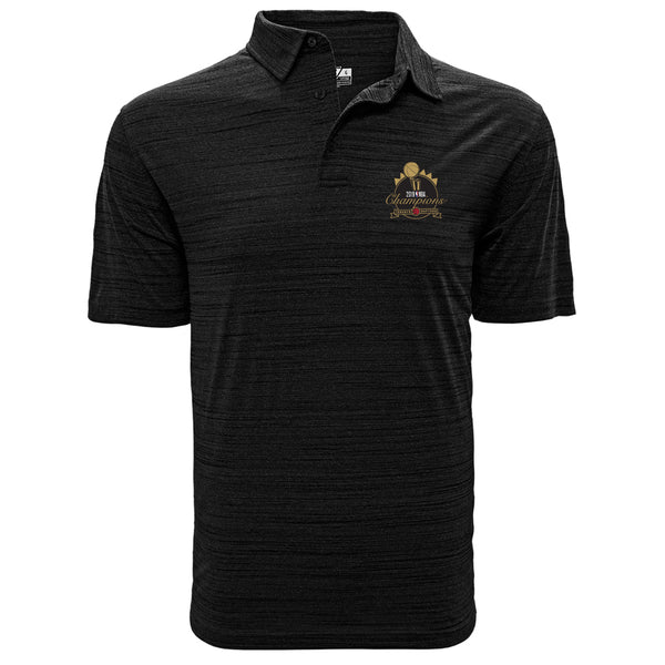 80e8c56529a Raptors 2019 NBA Champs Men's Sway Polo - Black
