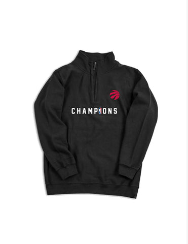 Raptors Peace Collective Ladies 2019 NBA Champs 1/4 Zip Crew
