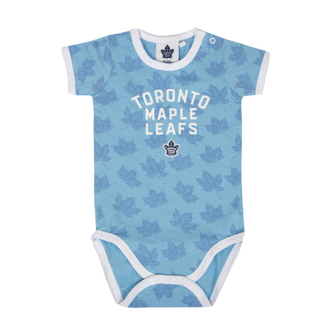Maple Leafs Infant 3-Piece Onesie Set - BLUE