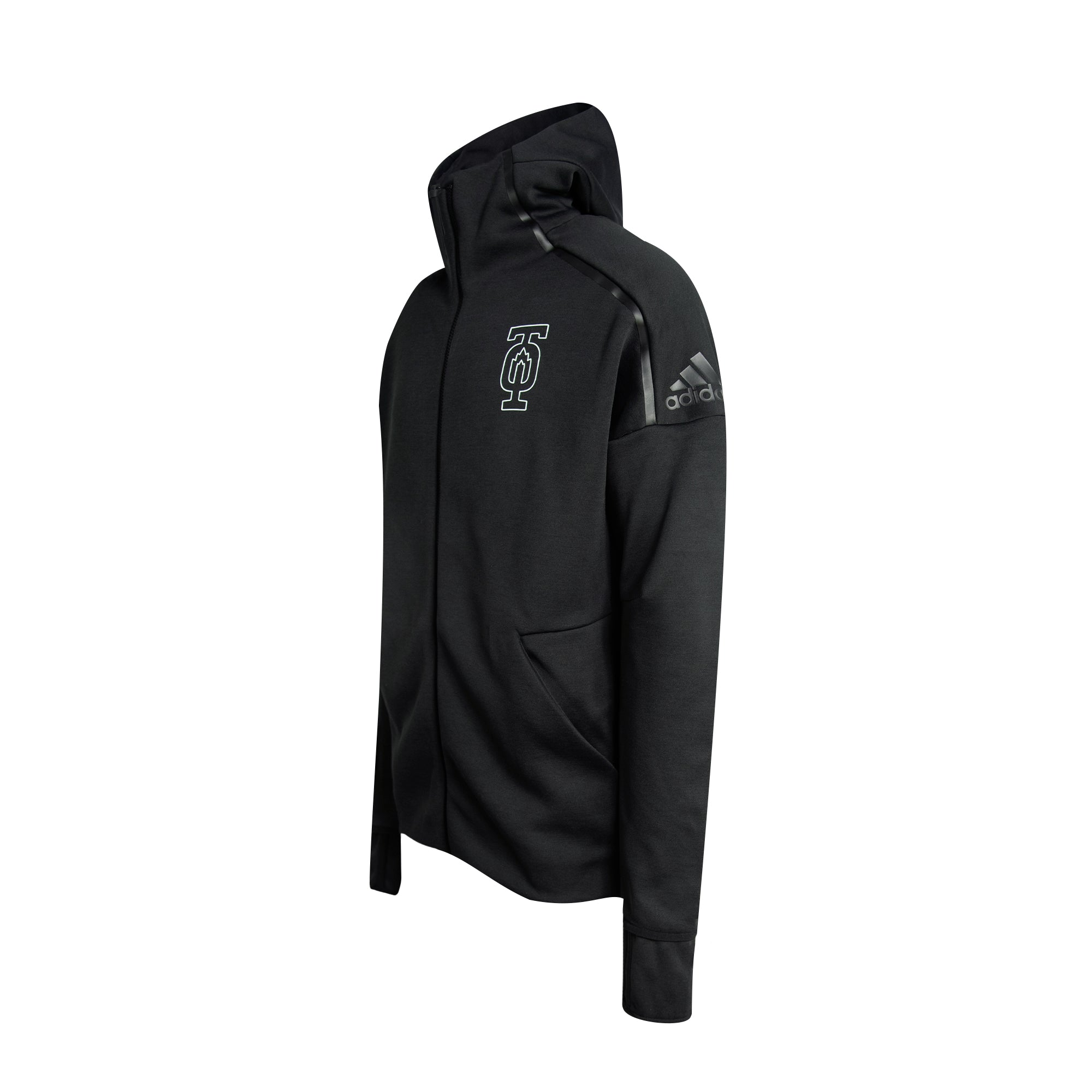 Maple Leafs Adidas Men's TO Outline Full Zip Hoody