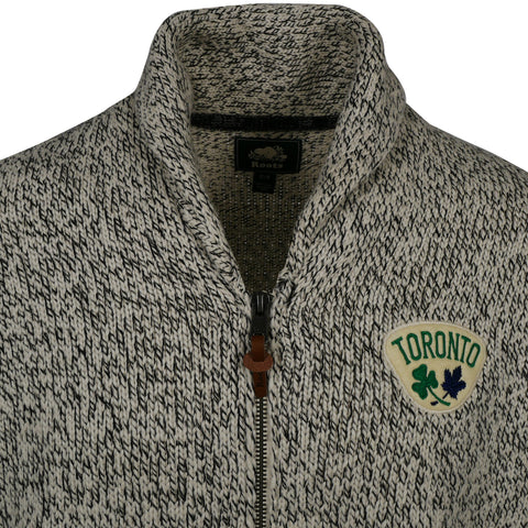 Maple Leafs Roots Men's St Pats Snow Fox Zip Cardigan