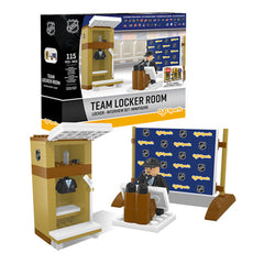 Toronto Maple Leafs OYO Team Locker Room Building Block Set