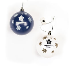 Maple Leafs 5 Pack Shatterproof Ball Ornaments