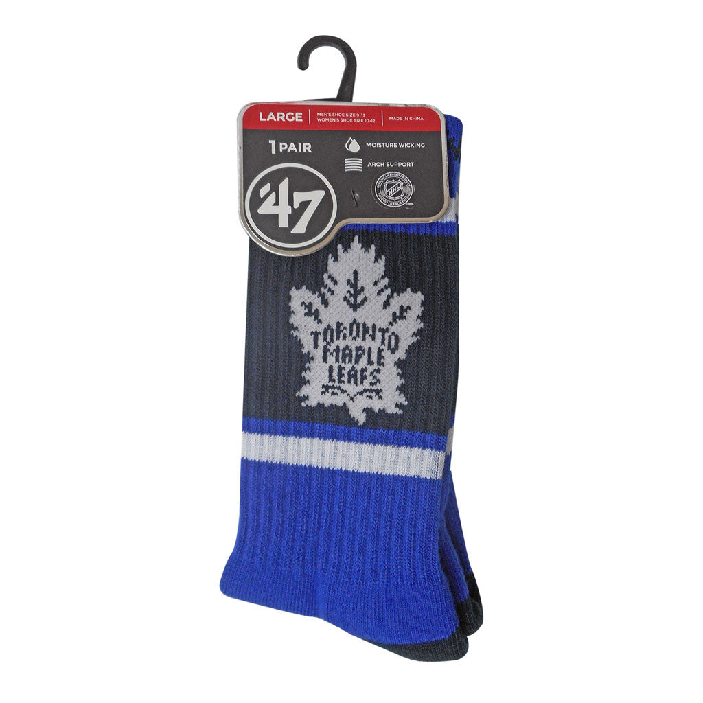 Toronto Maple Leafs Mens Blue and White Duster Sport Sock
