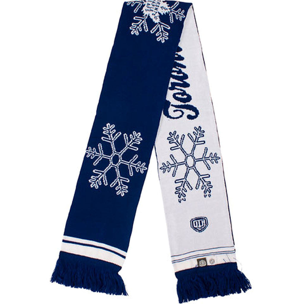 Toronto Maple Leafs Old Time Hockey Ladies Lena Snowflake Scarf - shop.realsports