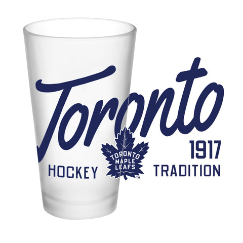 Toronto Maple Leafs 16oz. Frosted Glass