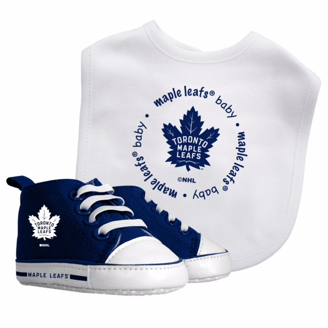 Maple Leafs Baby Fanatics Infant Bib and Pre-Walker Set