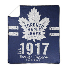 Toronto Maple Leafs Logo Print Throw Blanket