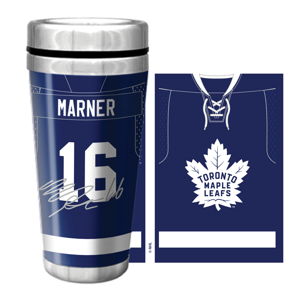 Maple Leafs Marner Jersey Travel Mug