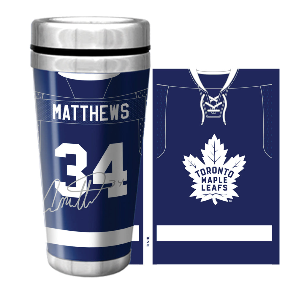 Toronto Maple Leafs 16oz. Matthews Jersey Travel Mug