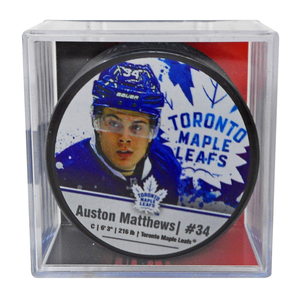 Maple Leafs Matthews Player Cube Puck