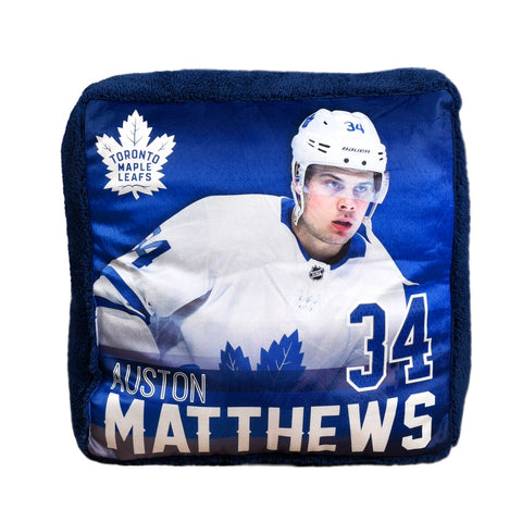 Maple Leafs Matthews Jump Throw Pillow