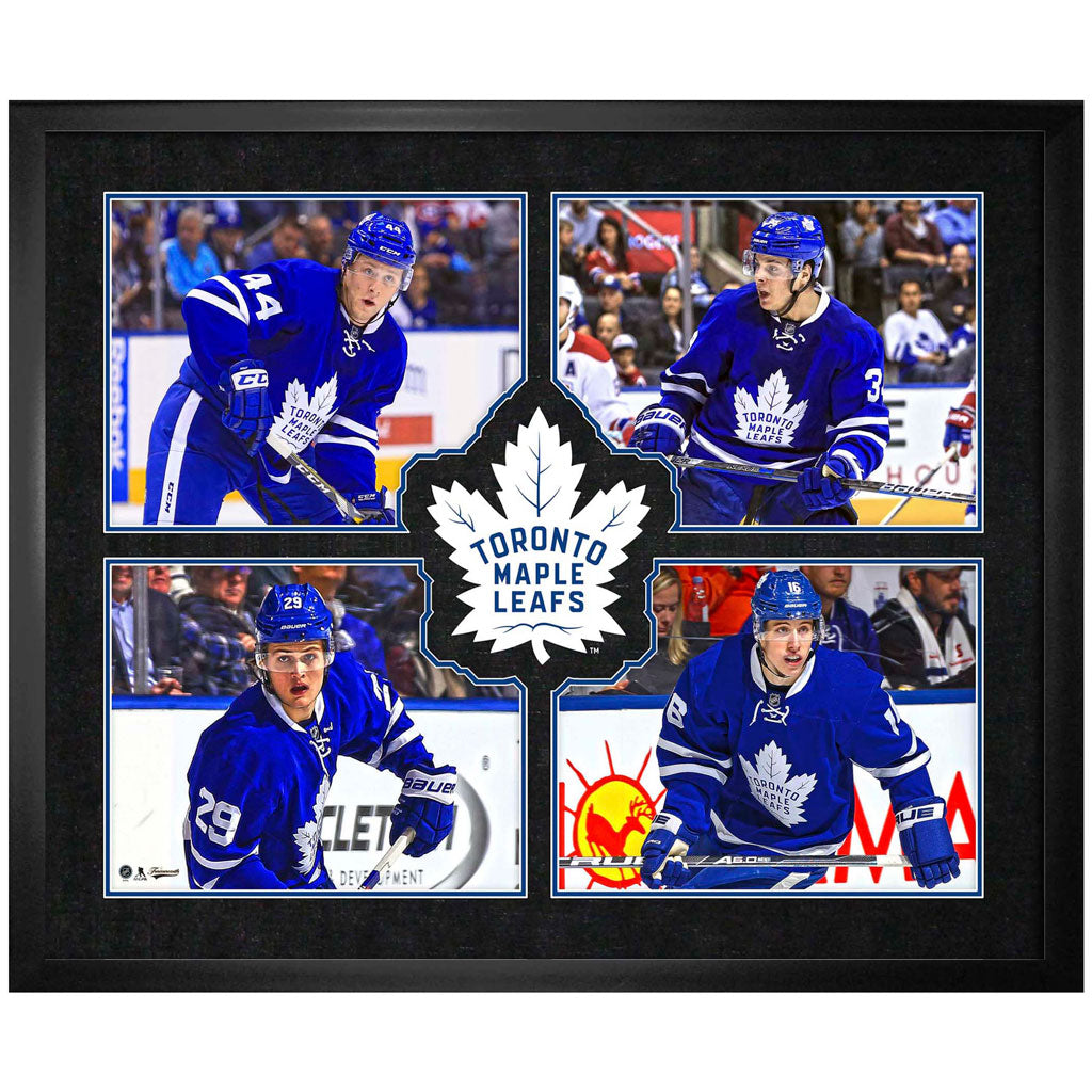 Toronto Maple Leafs Four Player Logo Virtual Frame