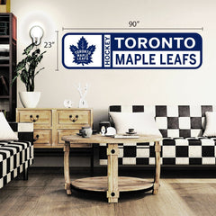 Toronto Maple Leafs 90x23 Team Repositional Wall Decal Design 56