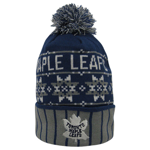 Toronto Maple Leafs Old Time Hockey Men's 1928 Crawford Snowflake Pom Knit Toque