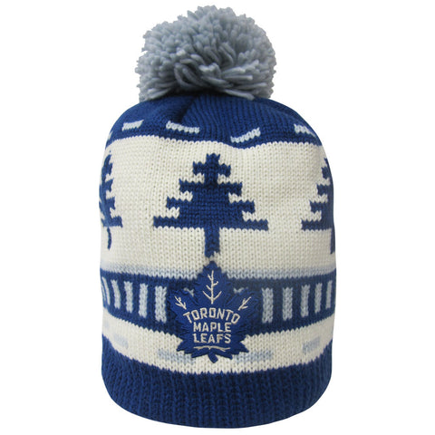 Toronto Maple Leafs Reebok Men's Festive Pom Toque