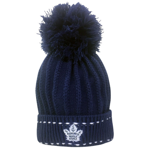 Toronto Maple Leafs Reebok  Youth Girls Rib Cuffed Pom Toque