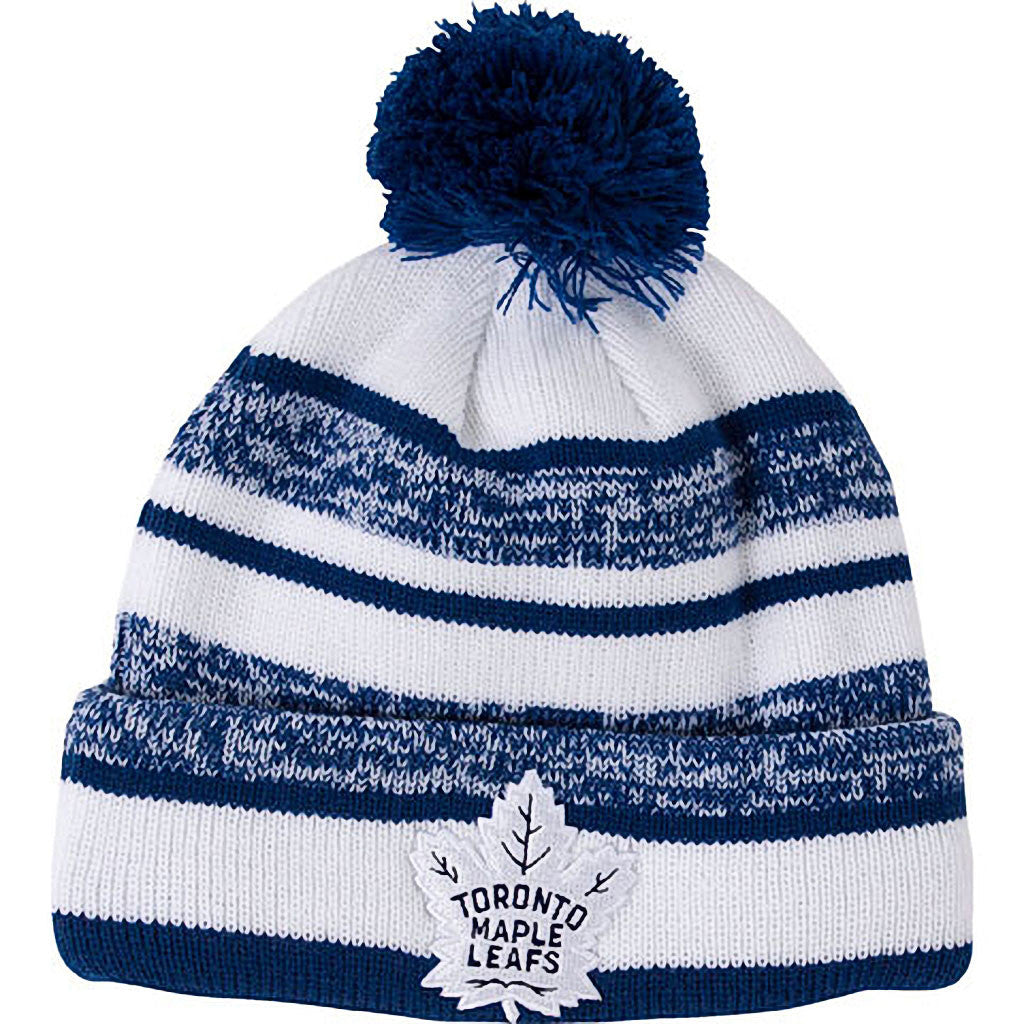 Toronto Maple Leafs Old Time Hockey Men's Clay Cuffed Pom Toque - shop.realsports