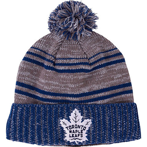 Toronto Maple Leafs Old Time Hockey Men's Merlin Cuffed Pom Toque