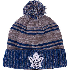 Toronto Maple Leafs Old Time Hockey Men's Merlin Cuffed Pom Toque - shop.realsports