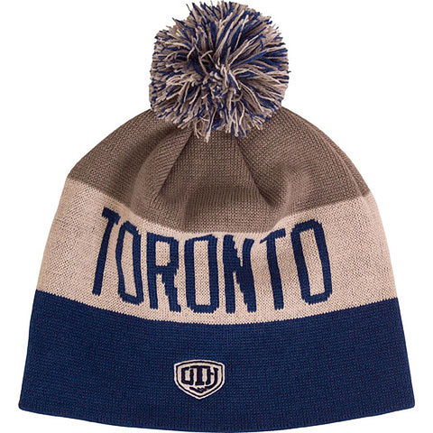 Toronto Maple Leafs Old Time Hockey Men's Travy Cuffless Scripted Pom Toque