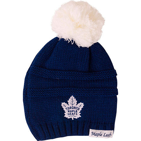 Toronto Maple Leafs Old Time Hockey Ladies Deliah Cuffless Pom Toque