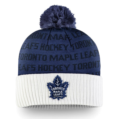 Maple Leafs Men's Authentic Pro Rinkside Cuffed Pom Toque