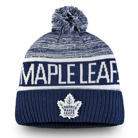 Toronto Maple Leafs Men's Authentic Pro Rinkside Goalie Cuffed Pom Knit Toque