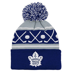 Toronto Maple Leafs Child Hockey Knit Cuffed Pom Toque