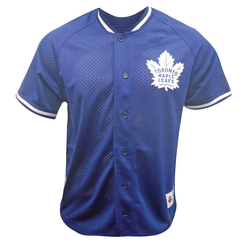 Toronto Maple Leafs Mitchell & Ness Men's Seasoned Pro Mesh Button Front