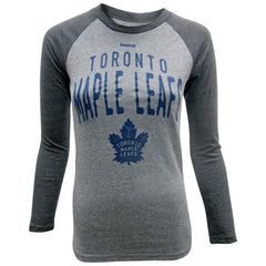 Toronto Maple Leafs Reebok Youth Legacy Pedigree Tri-blend Raglan L/S Shirt - shop.realsports