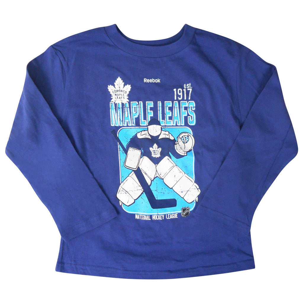 Toronto Maple Leafs Reebok Kids Goal Keep L/S Shirt - shop.realsports
